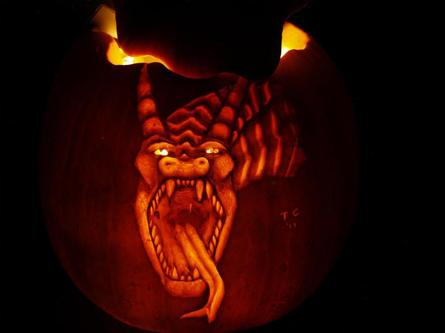 dragon pumpkin 2 by Marinatedhippo