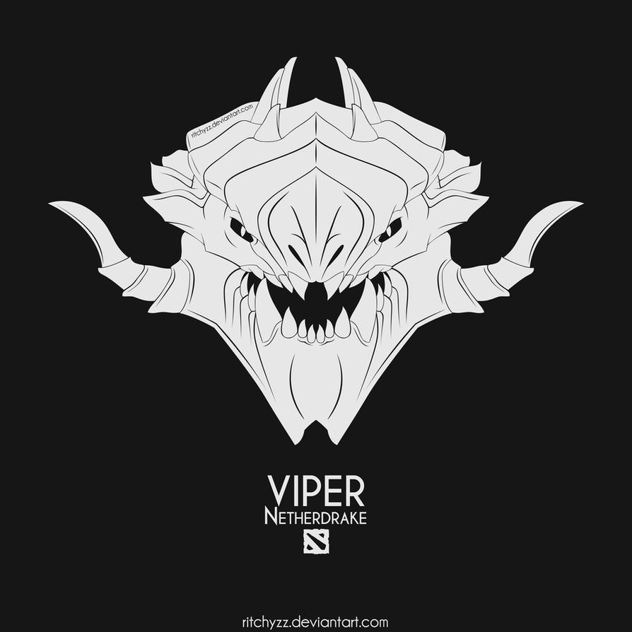 logo netherdrake viper dota 2 by ritchyzz on deviantart