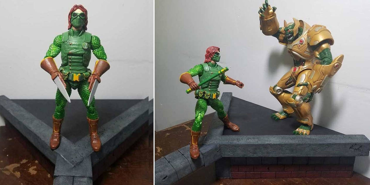 Custom Action Figure - Green Taipan by WemblyFraggle