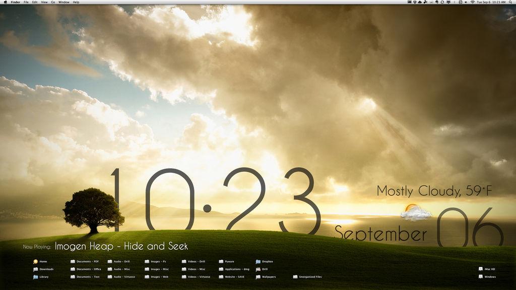 My GeekTool Desktop by mello2198
