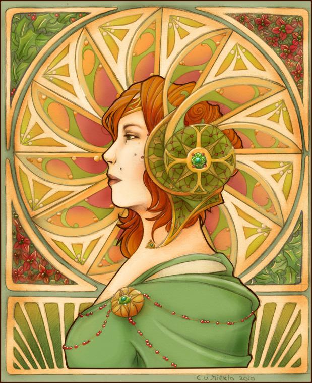 Jugendstil colored by Cinniuint