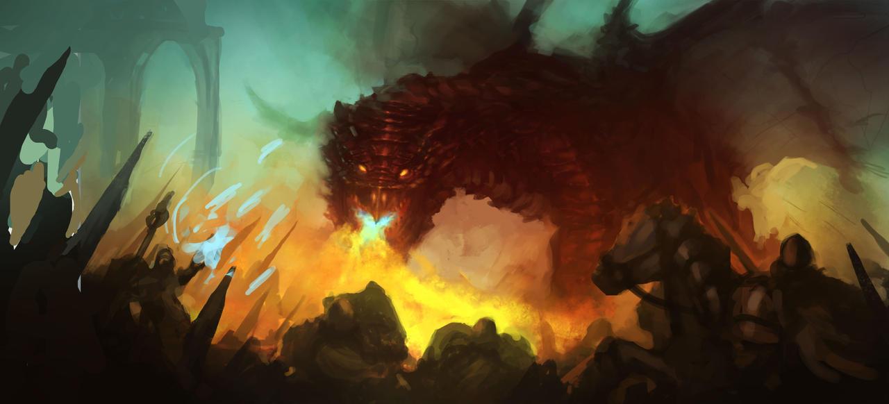 dragon by fossmno