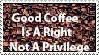 Coffee Stamp by PsychoMonkeyShogun