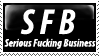 Serious Business Stamp by PsychoMonkeyShogun