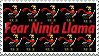 Ninja Llama Stamp