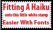 Haiku Stamp by PsychoMonkeyShogun