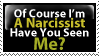 Narcissist Stamp by PsychoMonkeyShogun