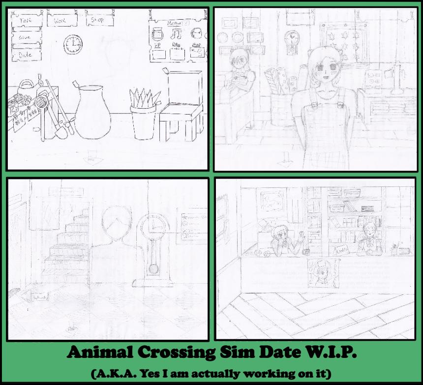 Animal Crossing Sim Date W.I.P. by EllyGirl2809