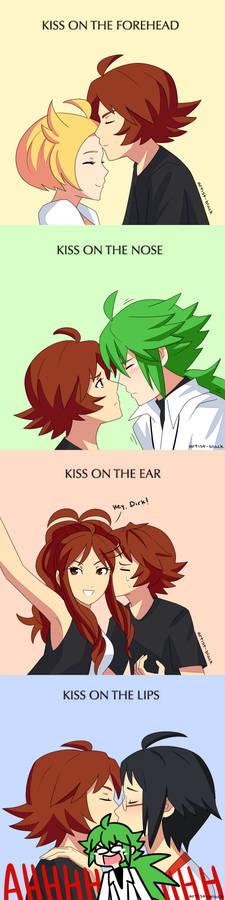 kissing meme