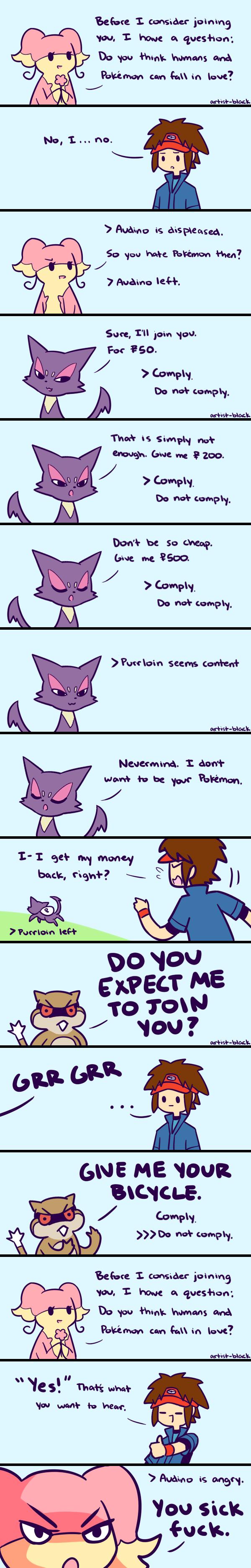 Pokemon Negotiations by artist-black