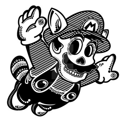 Calavera de Racoon Mario