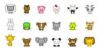 Starprints Pixel Characters by starprints