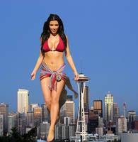 Kim Kardashian giantess by jjuenger