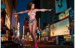Giantess Rihanna In Times Square