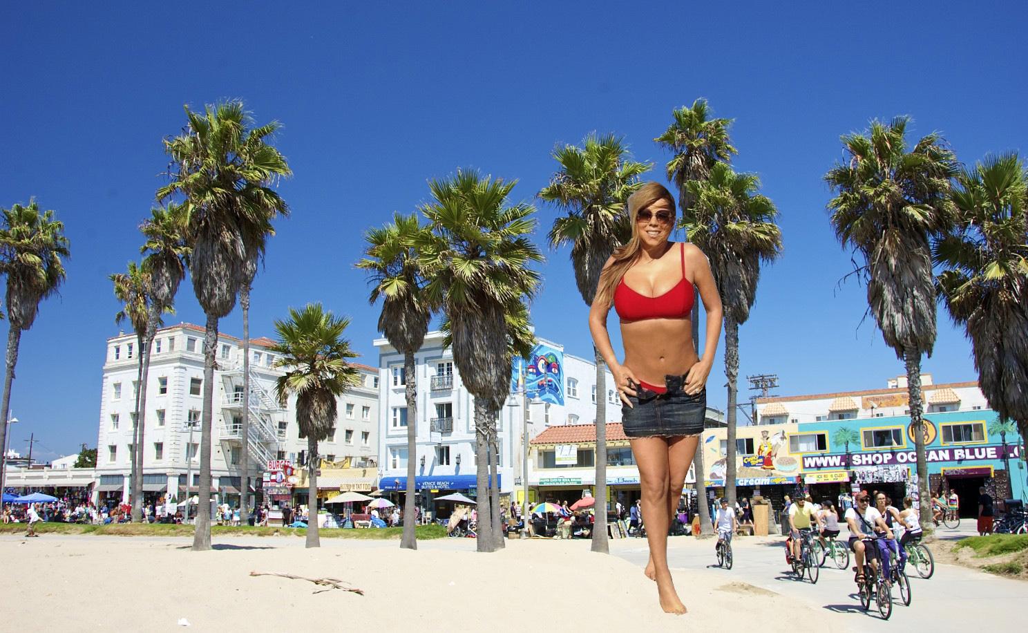Giantess Carrei: Giantess Mariah Carey At Venice Beach By Jjuenger On