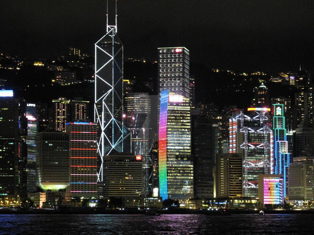 Hong Kong Light show by blacknight12
