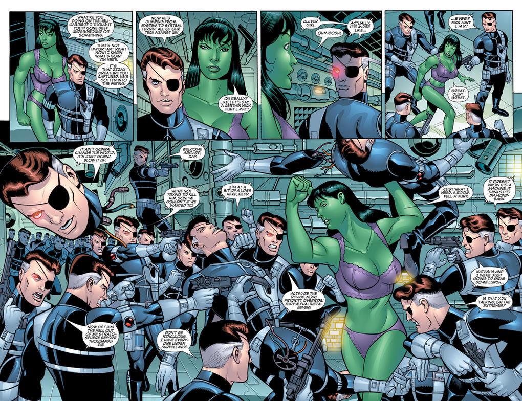 Marvel Comics - She-Hulk in her Underwear 6 by parkjussic