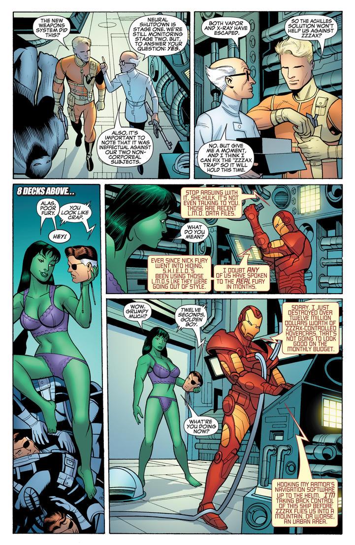 Marvel Comics - She-Hulk in her Underwear 7 by parkjussic