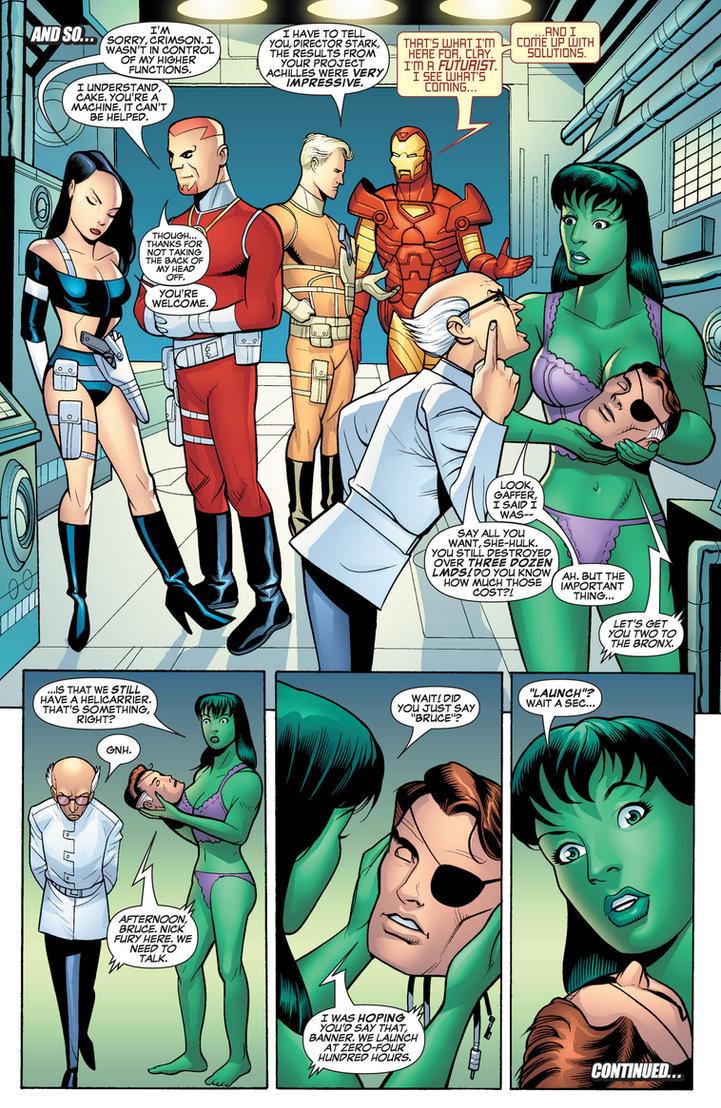 Marvel Comics - She-Hulk in her Underwear 9 by parkjussic