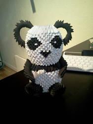 My first origami panda
