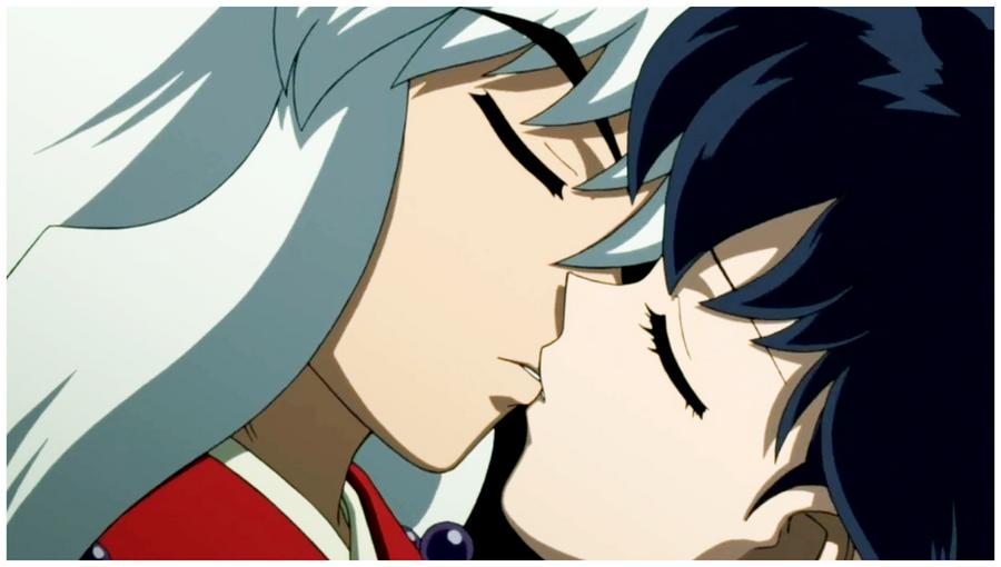 Inuyasha and Kagome First Kiss by IrinaTH on DeviantArt  Inuyasha and Ka...