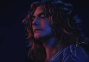 Robert Plant 1973 by Jorshma