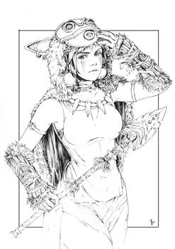 Princess Mononoke (Inked)