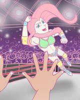 Fluttershy the Pro Wrestler by KYMSnowman