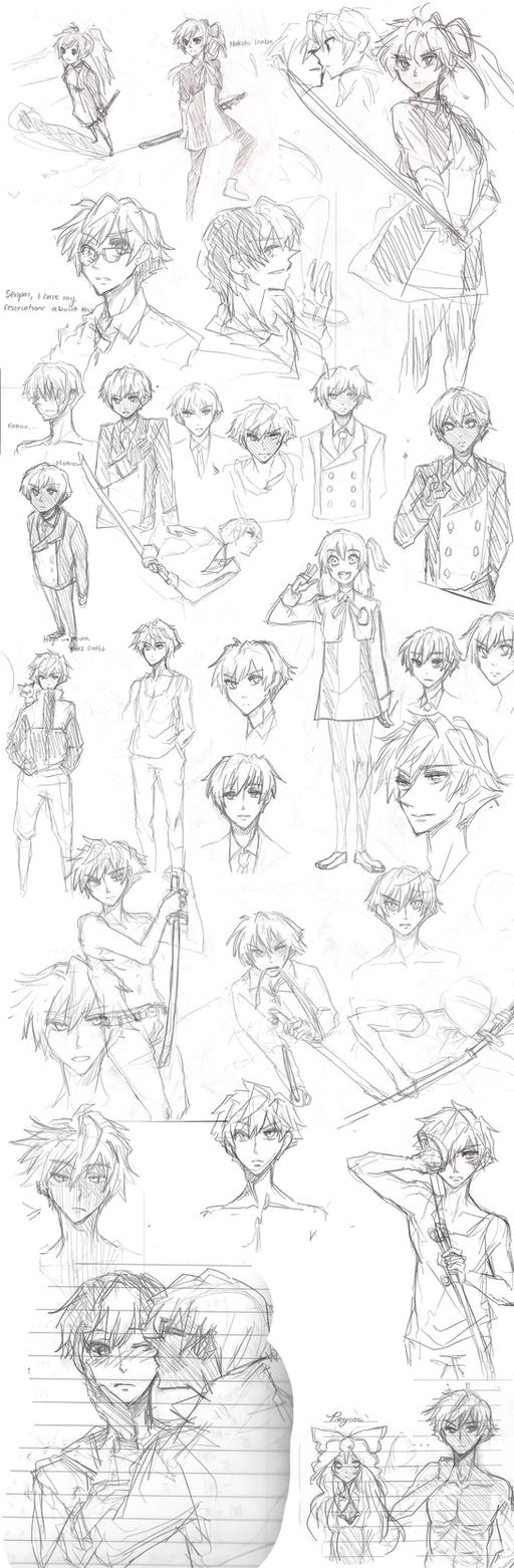 MM - Sketch Batch(1) by Shanainanese