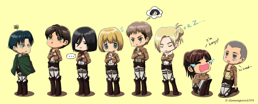 Attack on Titan: Standing in a Line by itsmeagain1004 on ...