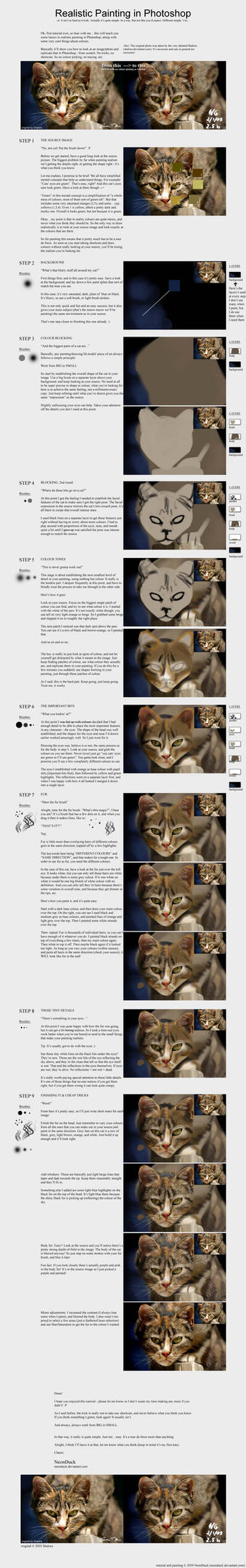 Realistic Painting Tutorial by NeonDuck