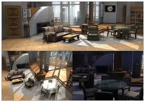 Frasier's Apartment 3D by NeonDuck