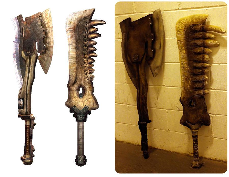 Monster Hunter Tri Weapons by diemortalroom