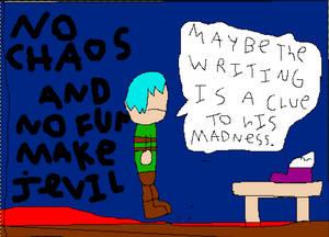 No Chaos and No Fun Make Jevil Go Crazy Panel 1