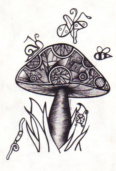 Displaying (18) Gallery Images For Magic Mushroom Drawing...