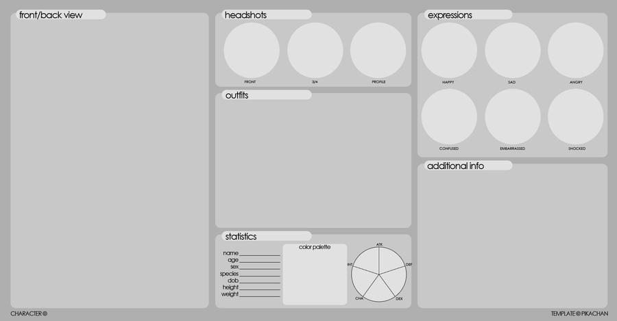 Elegant Blank Ref Sheet By Starbunnies  Blank Reference Sheet