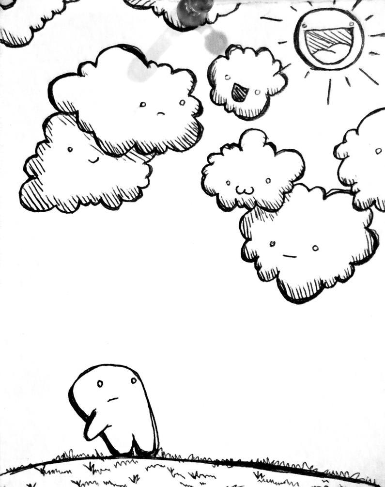 Dark Cloudy Day Cartoon