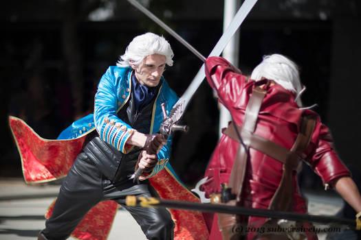 Vergil vs Dante action shot