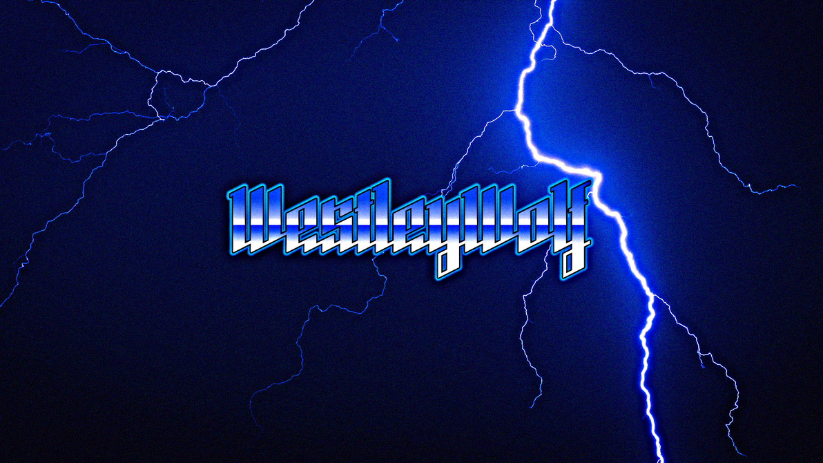 XC Blue Lightning Heavy Metal Styled Wallpaper by DJ7493