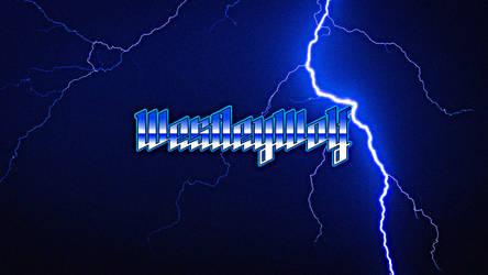 XC Blue Lightning Heavy Metal Styled Wallpaper by DJ7493