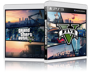 First 3D - GTA V Game Cover - PS3 by Ferino-Design