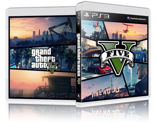 First 3D - GTA V Game Cover - PS3