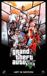 GTA V Poster - 200000 Views (Celebration) by Ferino-Design