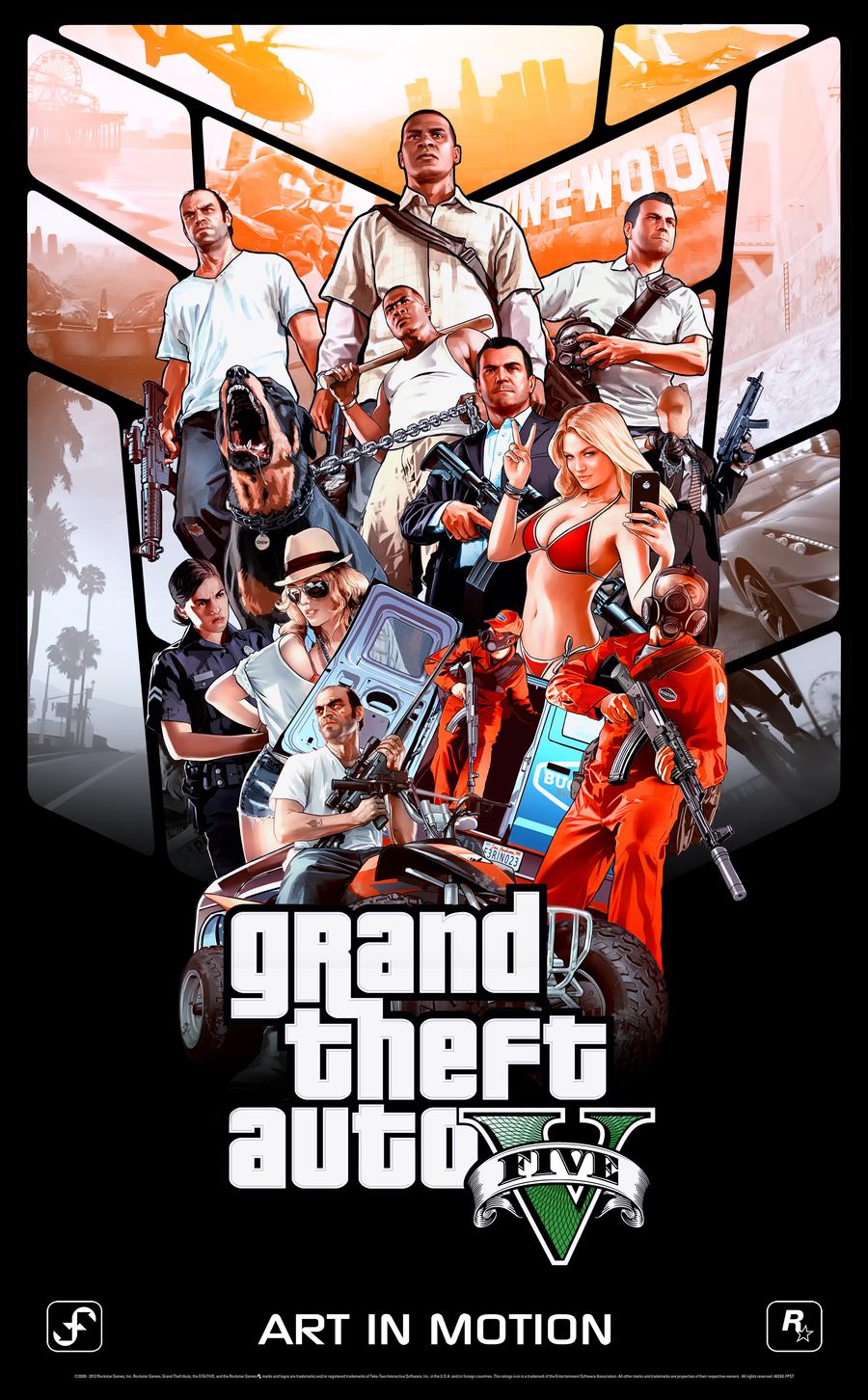 GTA 5   PC ultimas pc gta ano 2013 acao