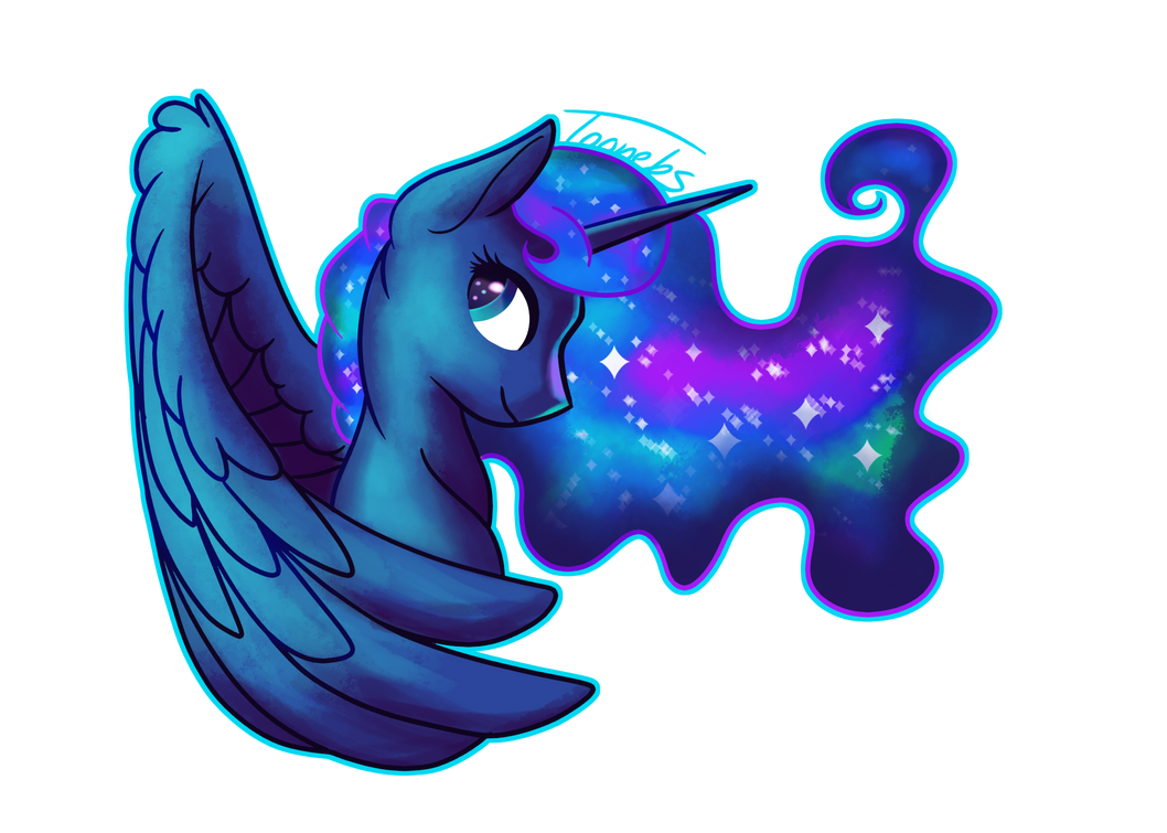 Luna in the sky with diamonds by Toonebs