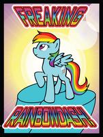 Freaking Rainbow Dash by GWBinvincible