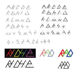 Triforce Font Prototype by GWBinvincible