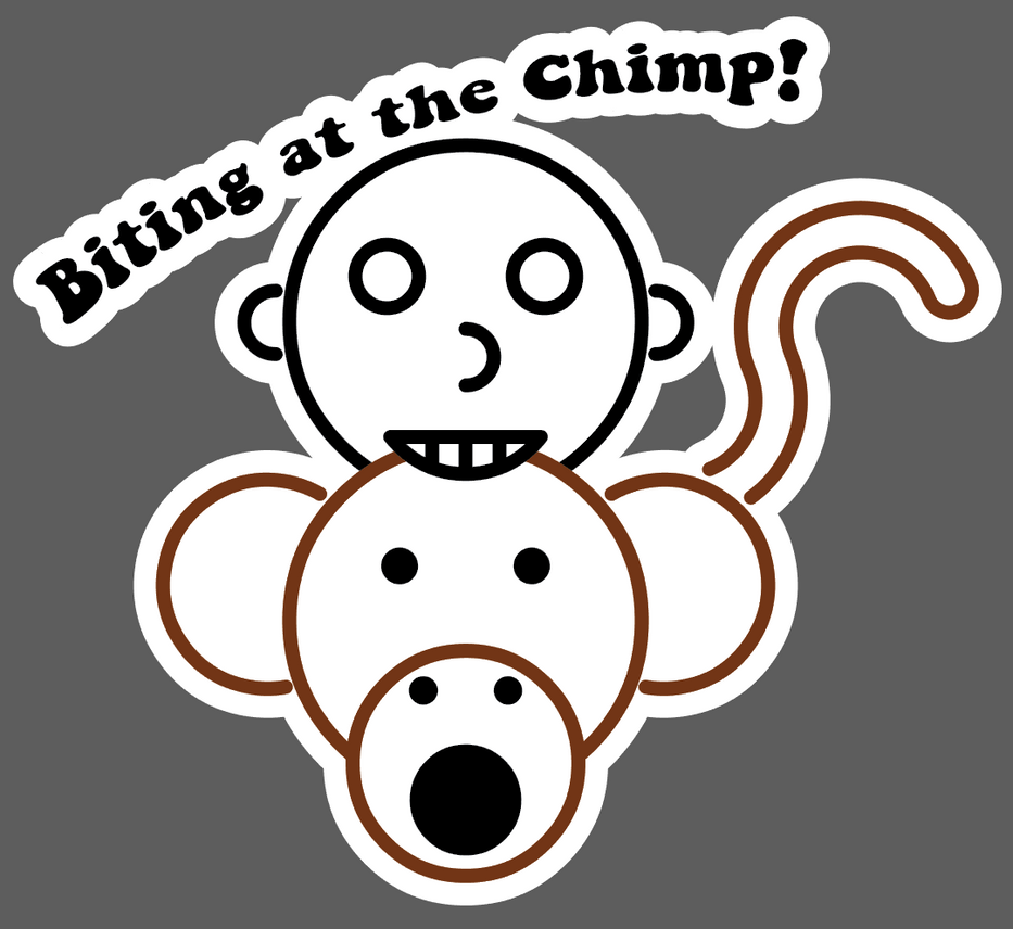 Biting at the Chimp by GWBinvincible