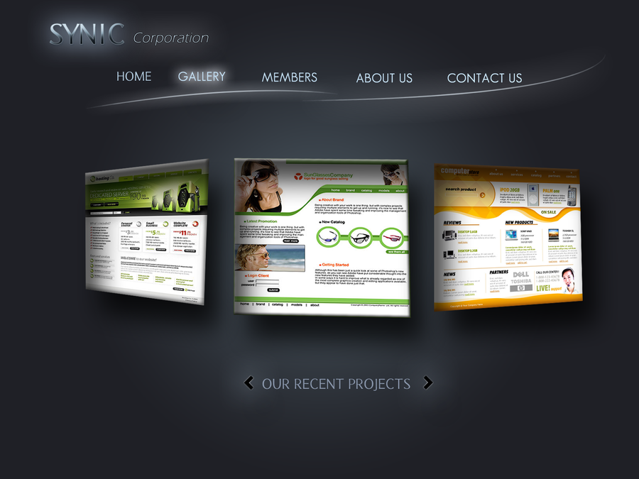 Web Photo Gallery Template. video gallery templates ...
