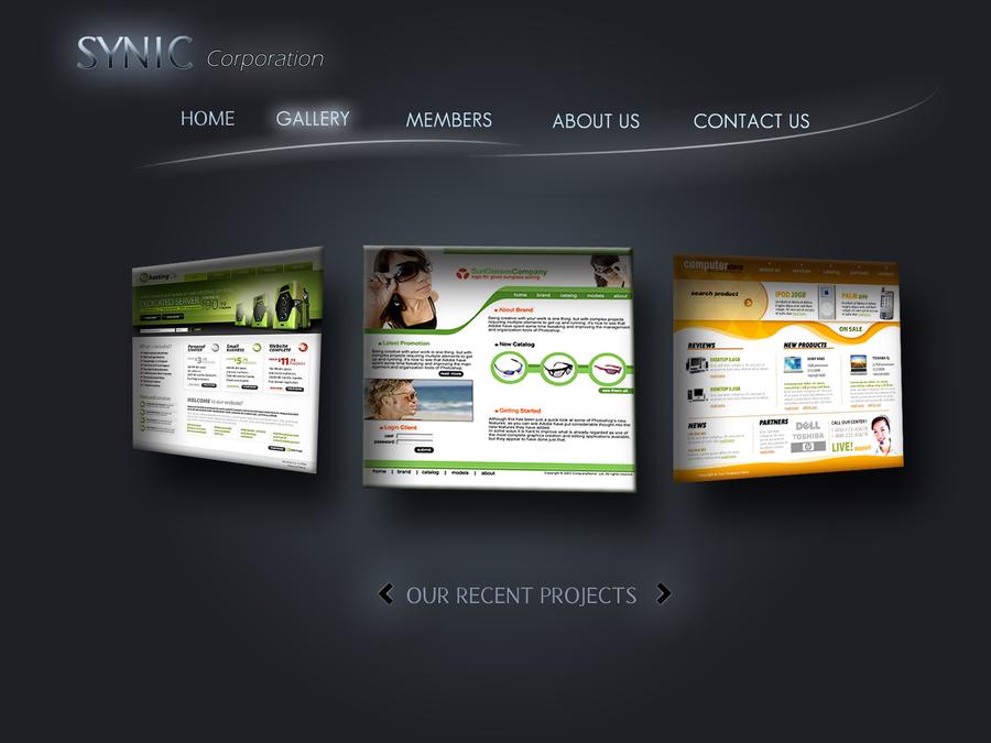 New web template gallery by ~Anshartist on deviantART - webtemplate ...